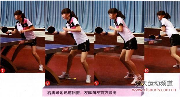 乒乓球技术:正手挑打接侧身冲