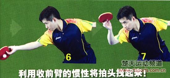 乒乓球技术训练:直板背面挑打